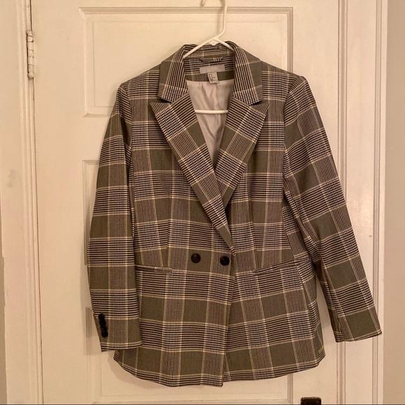 H&M Jackets & Blazers - H&M Single-breasted Plaid Blazer